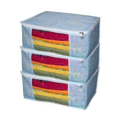 Non Woven Storage Organizer, Underbed Storage Bag, Blanket Cover Multipurpose (Pack of 3)