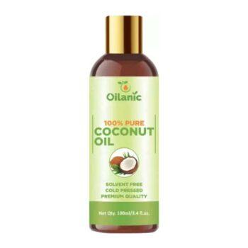 Oilanic 100% Pure & Natural Coconut Oil( 100 ml) Hair Oil (100 ml)