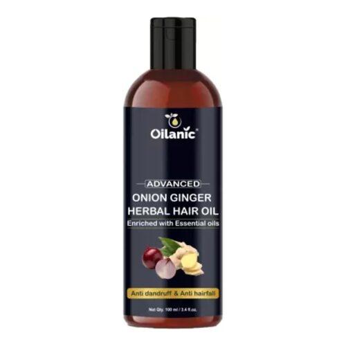 Oilanic Advance Onion Ginger Herbal Hair Oil For Hair Growth 100 ml Hair Oil 1