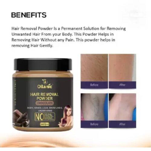 Oilanic Chocolate Hair Removal Powder 100gm Wax 100 g 2