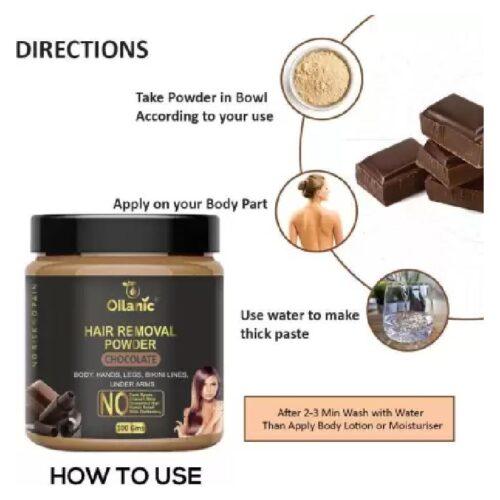 Oilanic Chocolate Hair Removal Powder 100gm Wax 100 g 3