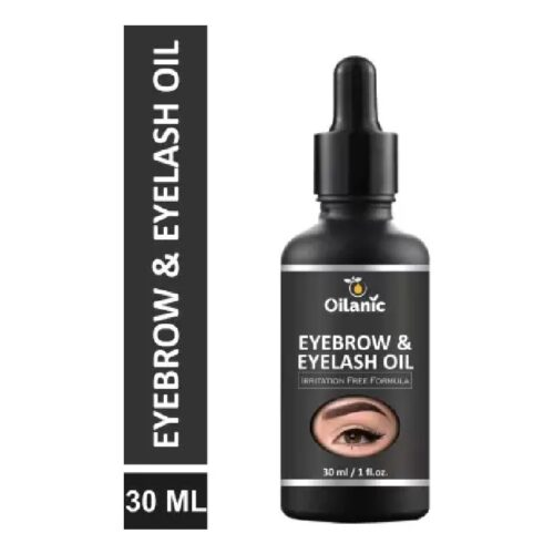 Oilanic Eyebrow Eyelash oil For Women Strength with Pure Natural Ingredient 30 ml Hair Oil 1