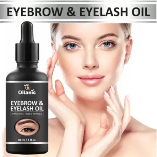 Oilanic Eyebrow & Eyelash oil For Women Strength with Pure Natural Ingredient ( 30 ml) Hair Oil