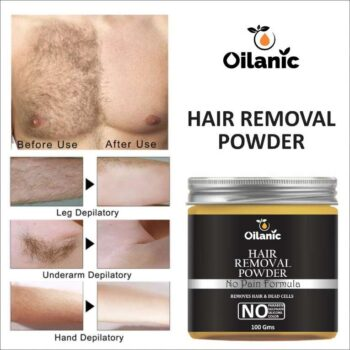 Oilanic Hair Removal Powder - For Easy Hair Removal with No Risk & No Pain Wax (100 gm)