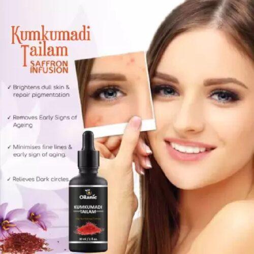 Oilanic Kumkumadi Tailam For Glowing Spotless Anti Ageing Radiant Skin 30 ml 4