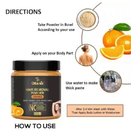 Oilanic Orange Hair Removal Powder 100gm Wax 100 g 2