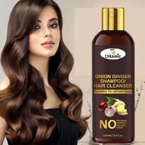 Oilanic Premium Onion Ginger Shampoo 100 ml 1