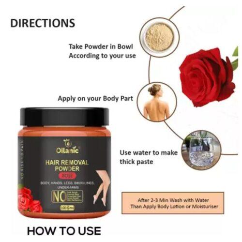 Oilanic Rose Hair Removal Powder 100gm Wax 100 g 2