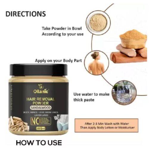 Oilanic Sandalwood Hair Removal Powder 100gm Wax 100 g 2