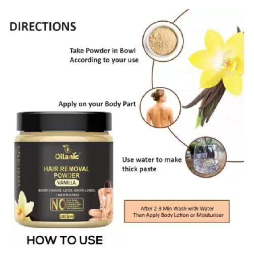 Oilanic Vanilla Hair Removal Powder 100gm Wax 100 g 2
