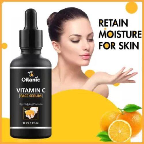 Oilanic Vitamin C Face Serum For Anti Aging Smoothening Brigthening Face For Men Women 30 ml 3