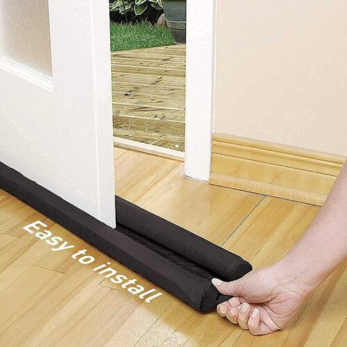 PVC Made Door Closer Bottom Sealing Strip for Energy Saving, Noise Cancellation and Cooling Saver (Brown) Door Stopper