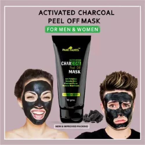 Park Daniel Activated Charcoal Peel off Mask - For Black Head Removal, Deep Cleansing & Instant glow (60 g)