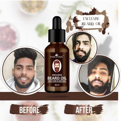 Park Daniel Exclusive Beard Oil (100% Pure & Natural Ingredients) -Suitable for Patchy Beard (30 ml)