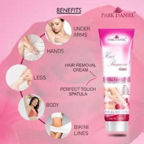 Park Daniel Hair Removal Cream - For Underarms, Hand, Legs & Bikini Line Three in one Use ( Ideal For Men & Women ) Cream (100 g)