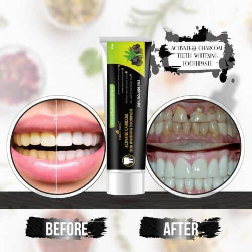 Park Daniel Natural Activated Charcoal Teeth Whitening Toothpaste - For Tobacco Stain, Tartar, Gutkha Stain and Yellow Teeth Removal _ No Side Effect (100 gm)