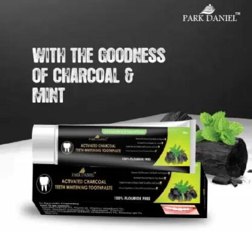 Park Daniel Natural Activated Charcoal Teeth Whitening Toothpaste For Tobacco Stain Tartar Gutkha Stain and Yellow Teeth Removal No Side Effect 100 gm 5