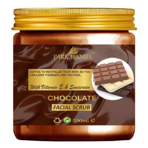Park Daniel Premium Chocolate Facial Scrub- With Vitamin E & Sunscreen Effect-Deep Cleansing, Exfoliation, Pigmentation Removal, Softening & Smoothening, Replenishing & Rejuvenation (200 ml)
