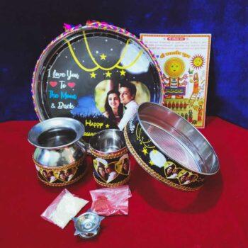 Personalized Karwa chauth Thali Set