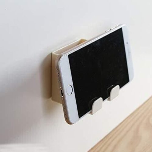 Phone Holder-Wall Mounted Mobile Phone Charging Stand with Hook (Pack of 2)
