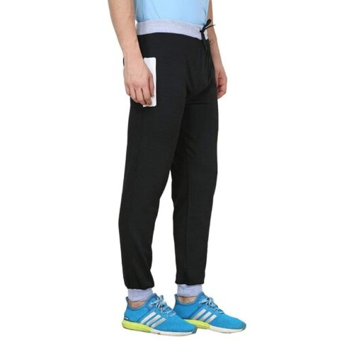 Poly Cotton Solid Track Pant for Men
