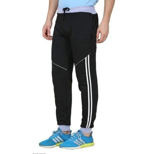 Poly Cotton Solid Track Pant for Men 10