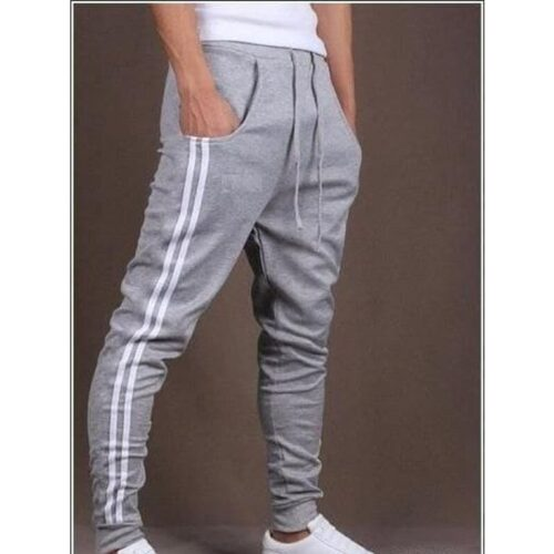 Poly Knit Solid With Side Tape Regular Fit Track Pant