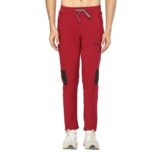 Poly Lycra Color Block Slim Fit Track Pant for Men 23