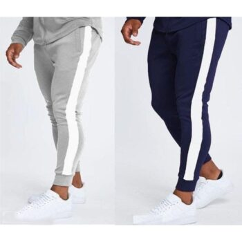 PolyKnit Side Stripe Slim Fit Track Pant (Pack Of 2)