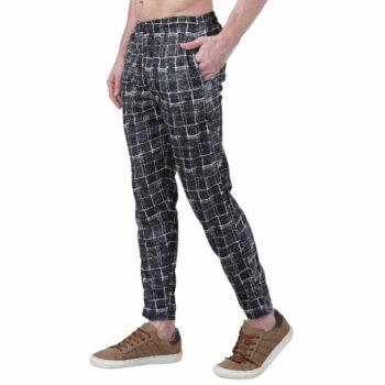 Polyester Blend Camouflage Print Slim Fit Track Pant for Men