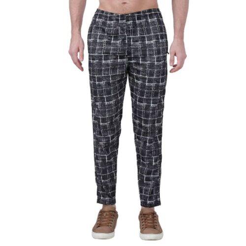 Polyester Blend Camouflage Print Slim Fit Track Pant for Men 1