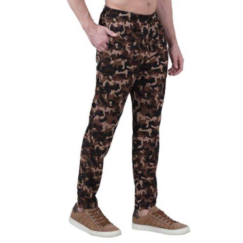 Polyester Blend Camouflage Print Slim Fit Track Pant for Men 10