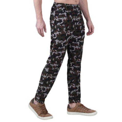 Polyester Blend Camouflage Print Slim Fit Track Pant for Men 12