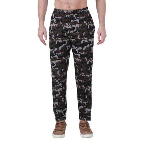 Polyester Blend Camouflage Print Slim Fit Track Pant for Men 13
