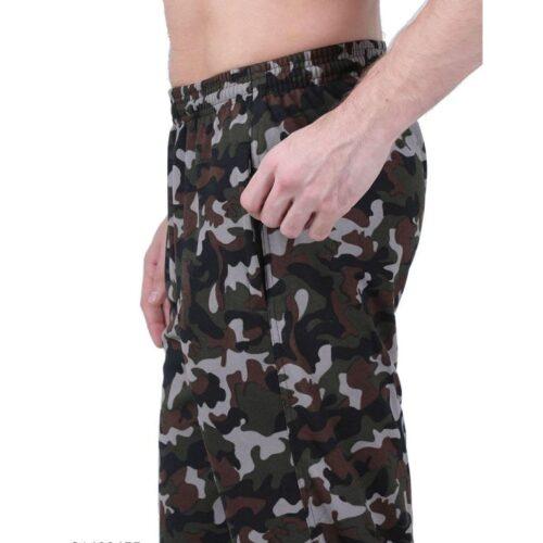 Polyester Blend Camouflage Print Slim Fit Track Pant for Men 14