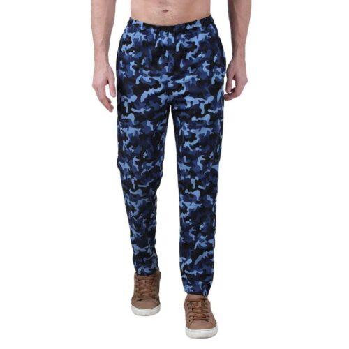 Polyester Blend Camouflage Print Slim Fit Track Pant for Men 16