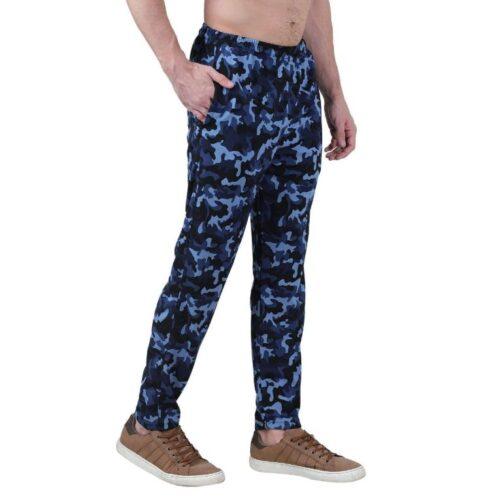 Polyester Blend Camouflage Print Slim Fit Track Pant for Men 17