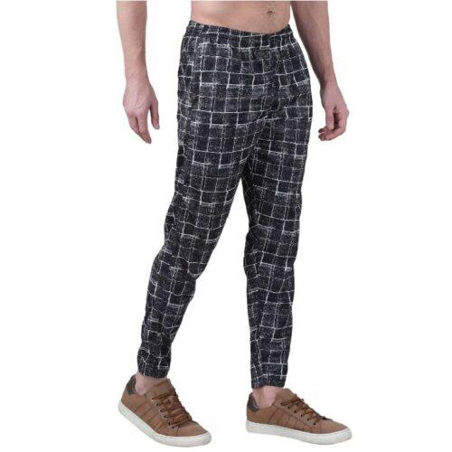 Polyester Blend Camouflage Print Slim Fit Track Pant for Men 2