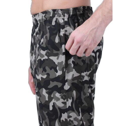 Polyester Blend Camouflage Print Slim Fit Track Pant for Men 20