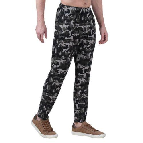 Polyester Blend Camouflage Print Slim Fit Track Pant for Men 21