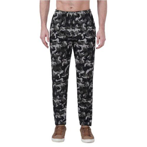 Polyester Blend Camouflage Print Slim Fit Track Pant for Men 22