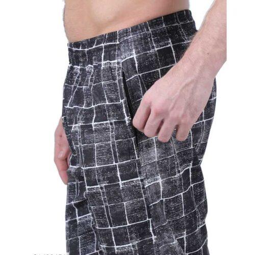 Polyester Blend Camouflage Print Slim Fit Track Pant for Men 3