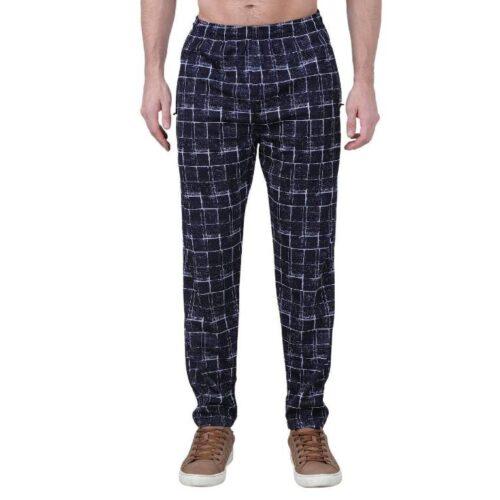 Polyester Blend Camouflage Print Slim Fit Track Pant for Men 6