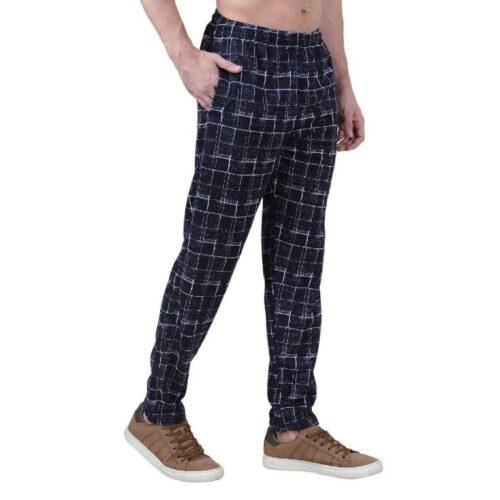 Polyester Blend Camouflage Print Slim Fit Track Pant for Men 7