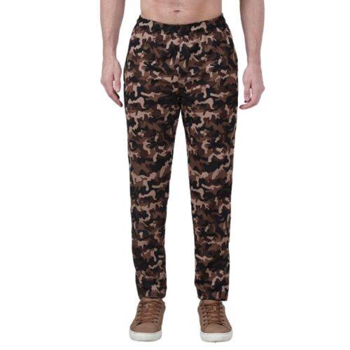Polyester Blend Camouflage Print Slim Fit Track Pant for Men 9