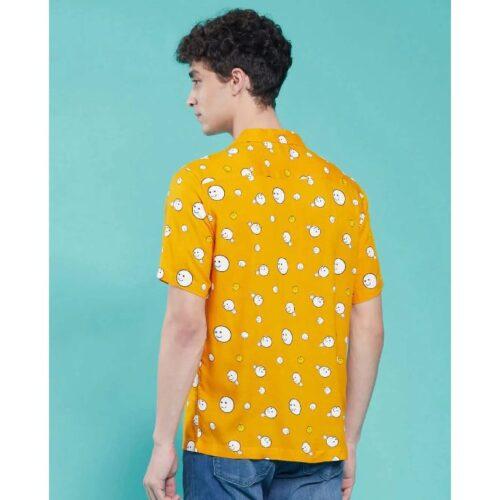 Popcorn Yellow Half Sleeve Shirt