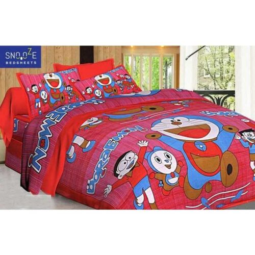 Printed Cotton Double Bedsheet for Kids