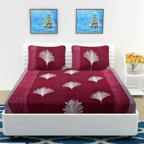 Printed Microfiber Double Bedsheet