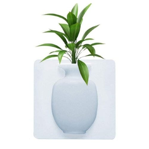 Removable Silicone Vases Strong Adhesion Magic Flower Pot Kitchen 4