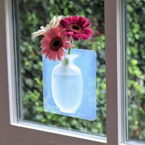 Removable Silicone Vases Strong Adhesion Magic Flower Pot Kitchen 7